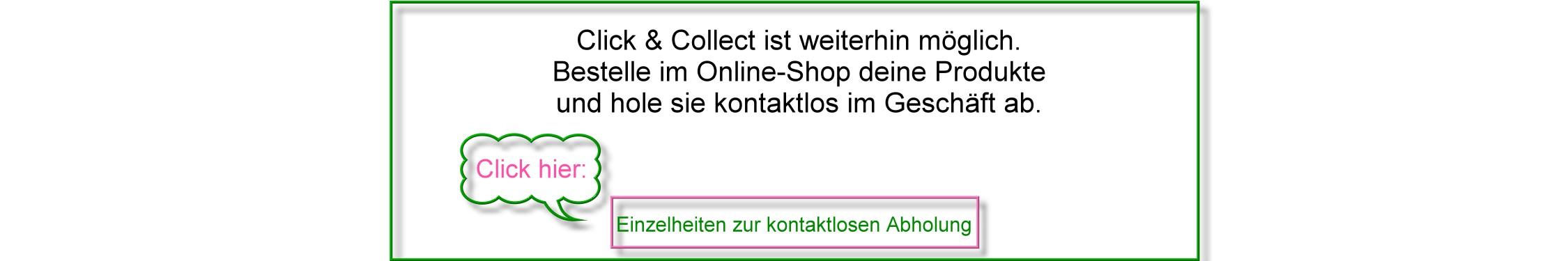 kontaktlose Abholung in Gelsenkirchen (von Mo - Sa möglich)