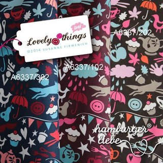 Hamburger Liebe Feincord - Things I Love - Lovely Things - dunkelblau - siehe links im Bild