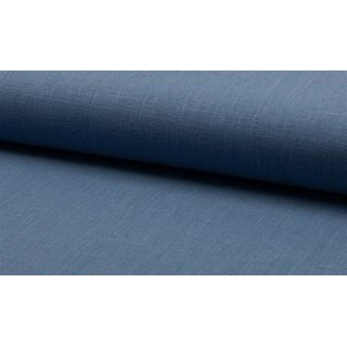 Leinen uni dusty blue